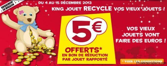 King jouet reprend vos anciens jouets contre un bon de réduction de 5€