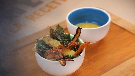 Chips d'épluchures de légumes