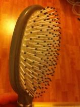 Brosse à cheveux en plastique
