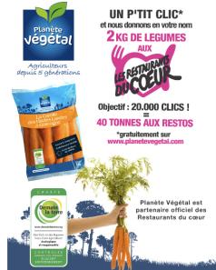 1 clic = 2kg de légumes pour les Restos du Co
