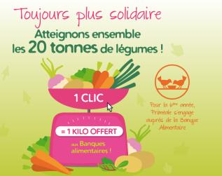 Priméale offre 1kg de légumes à la Banque Alimentaire