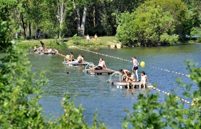Lac de Maine : baignade gratuite