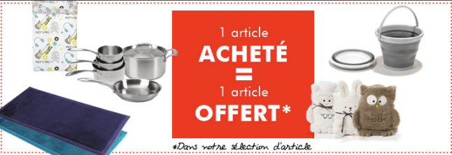 Bon plan Alinéa : 1 article acheté = 1 article offert