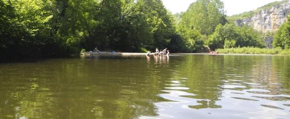 Rivière du Lot : baignade gratuite