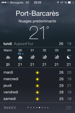 Partir en vacances en septembre - météo